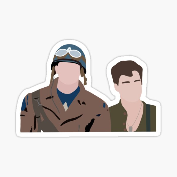 Steve and Bucky Sticker