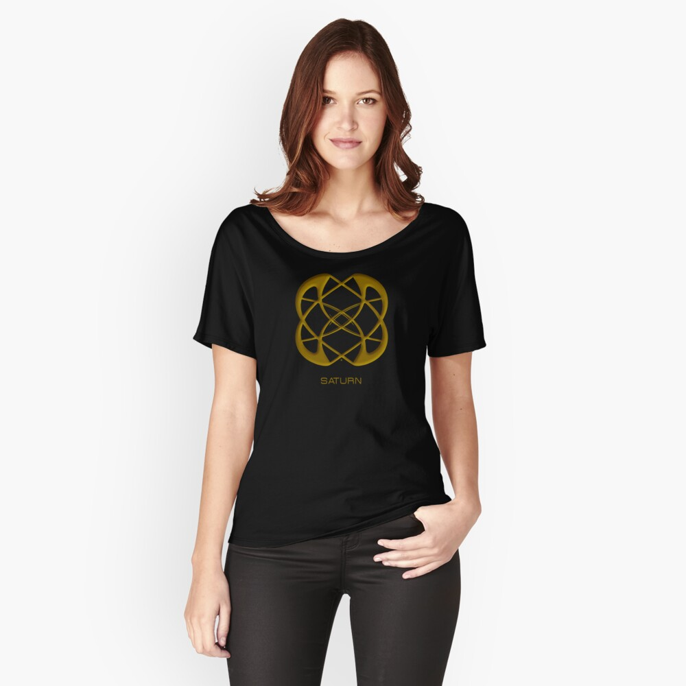 Astrology Symbol For Saturn Women's Relaxed Fit T-Shirt Front