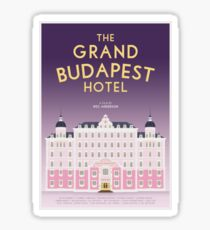 The Grand Budapest Hotel film poster Sticker