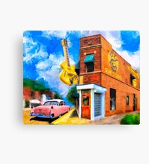 Musical Memories - Sun Studio in Memphis Tennessee Canvas Print