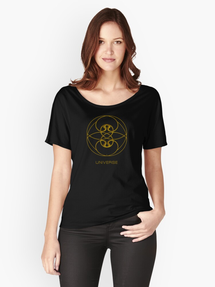 Astrology Symbol For Universe Women's Relaxed Fit T-Shirt Front