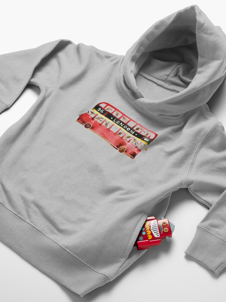 Alternate view of Bunny in London Toddler Pullover Hoodie