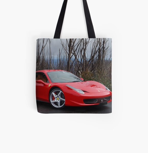 Red & Sleek All Over Print Tote Bag
