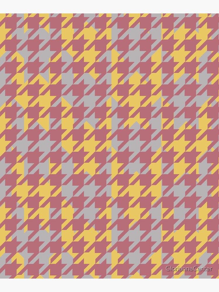 Houndstooth pattern in rose gold, gold and silver combination by GloriannaCenter