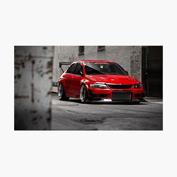 Stunning Red Evo8 Photographic Print