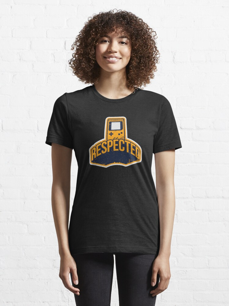 Alternate view of Respected In Gaming Design For Gamer Essential T-Shirt