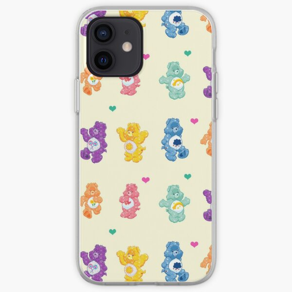 Colorful Glitter Bears  iPhone Soft Case