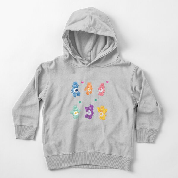 Colorful Glitter Bears  Toddler Pullover Hoodie