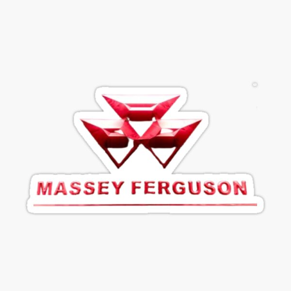 MASSEY FERGUSON - Logotipo premium genuino y actual Pegatina