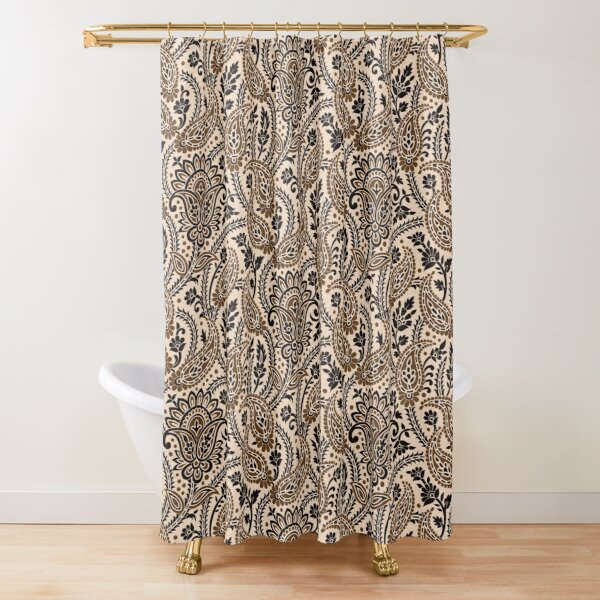 Brown Paisley Shower Curtain