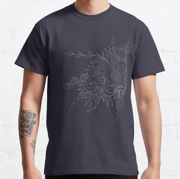 Chalk swirl flower doodle Classic T-Shirt