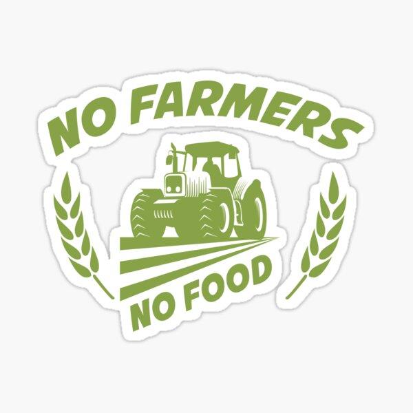 No Farmers No Food Design Sticker