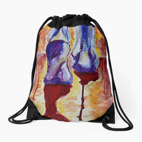 Walking in Faith Drawstring Bag