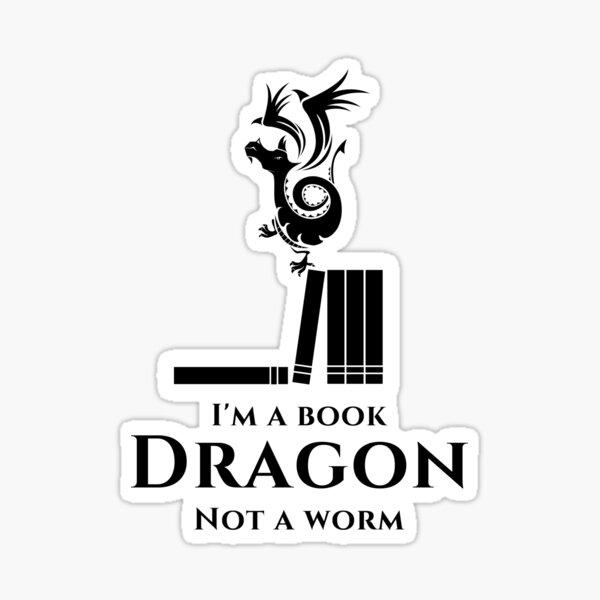 I'm a Book Dragon Sticker