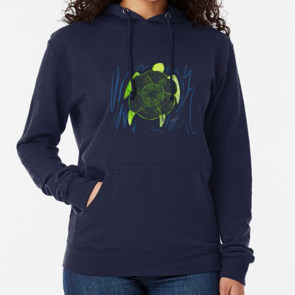 Turtle (transparent) Lightweight Hoodie