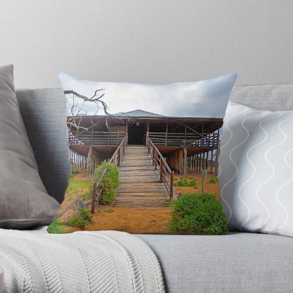 Shearing Shed, Kinchega National Park, NSW, Australia Throw Pillow