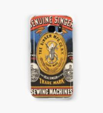 Vintage poster - Singer Sewing Machine Samsung Galaxy Case/Skin