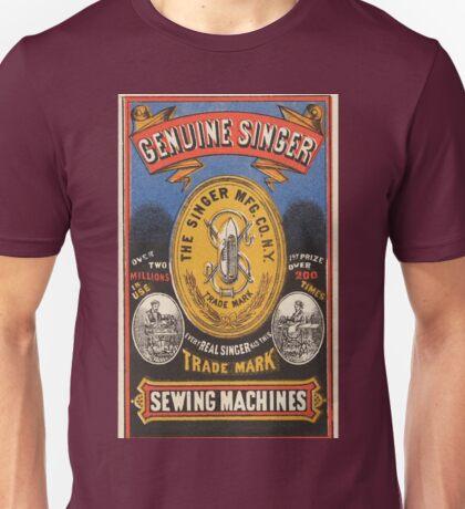 Vintage poster - Singer Sewing Machine Unisex T-Shirt