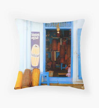 Musical Instruments Shop Throw Pillow