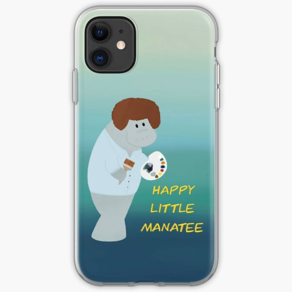 Happy Little Manatee  iPhone Soft Case