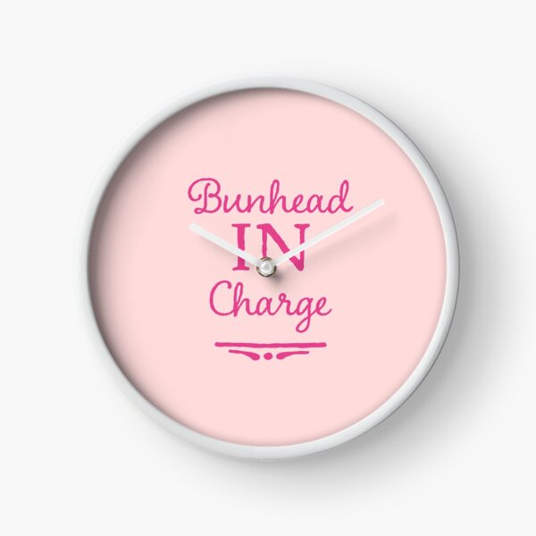 Ballet Teacher Gift - Bunhead in Charge  Clock