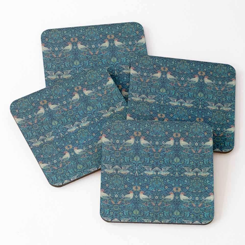 Bird by William Morris, 1878 Coasters (Set of 4)