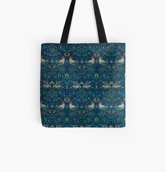 Bird by William Morris, 1878 All Over Print Tote Bag