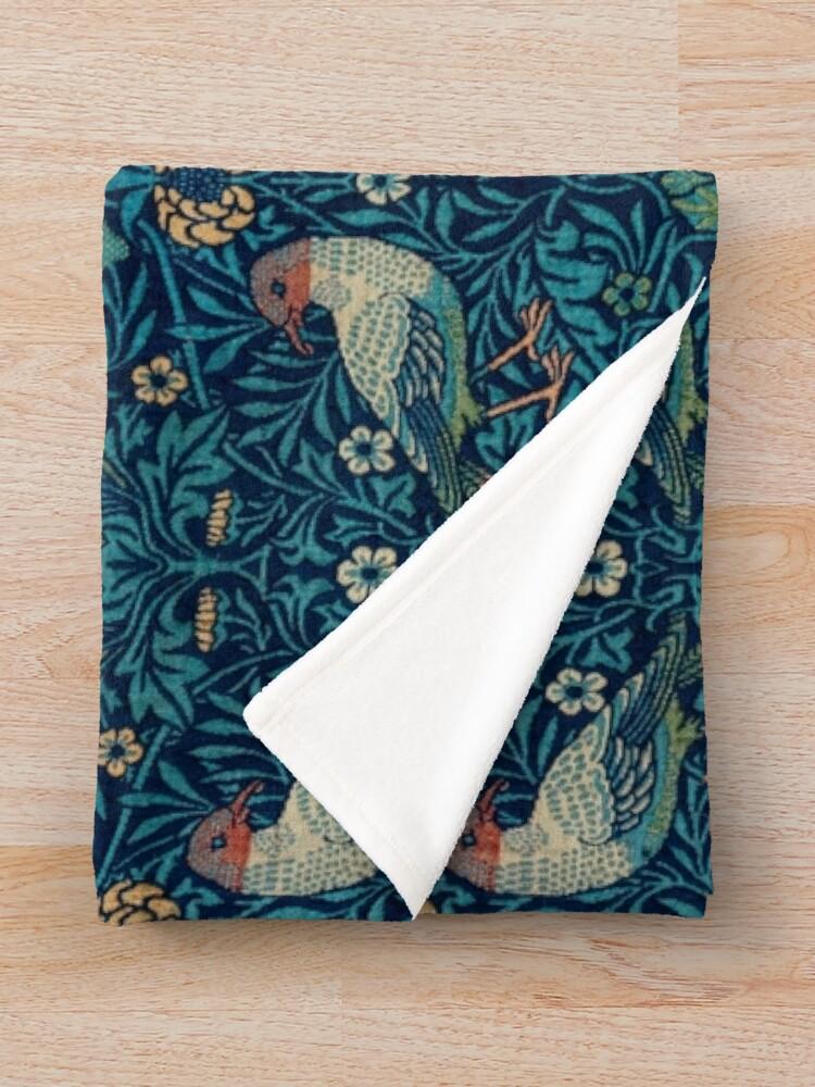 Alternate view of Bird by William Morris, 1878 Throw Blanket