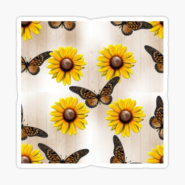 Sunflowers and Butterflies Sticker