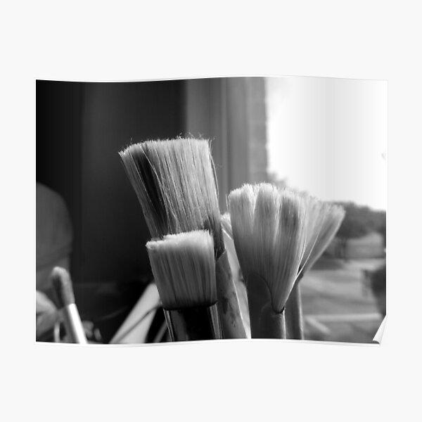 Artist Paint Brushes Poster