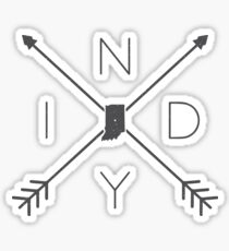 Indiana INDY Crossed Arrows Sticker