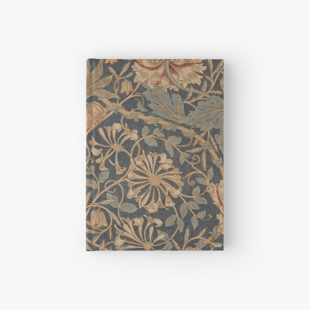 Honeysuckle by William Morris, 1876 Hardcover Journal