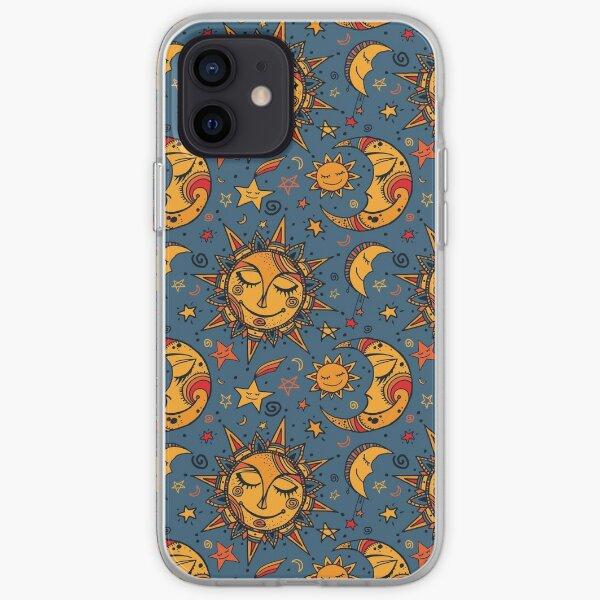 Sonne Mond und Sterne iPhone Flexible Hülle