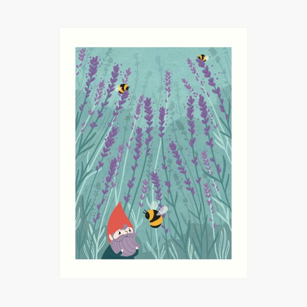 Lavender Gnome Art Print