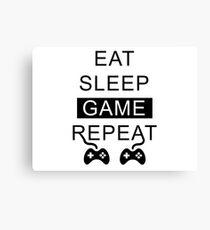 Eat Sleep Game Repeat Canvas Print