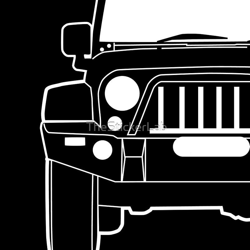 Full Front Steel Bull Bar Sticker  Decal Design For Jeep - Jeep t shirt design