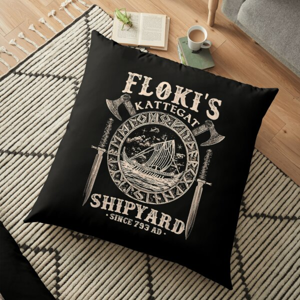Flokis Shipyard Kattegat Viking Ship And Sword T shirt Gift Floor Pillow