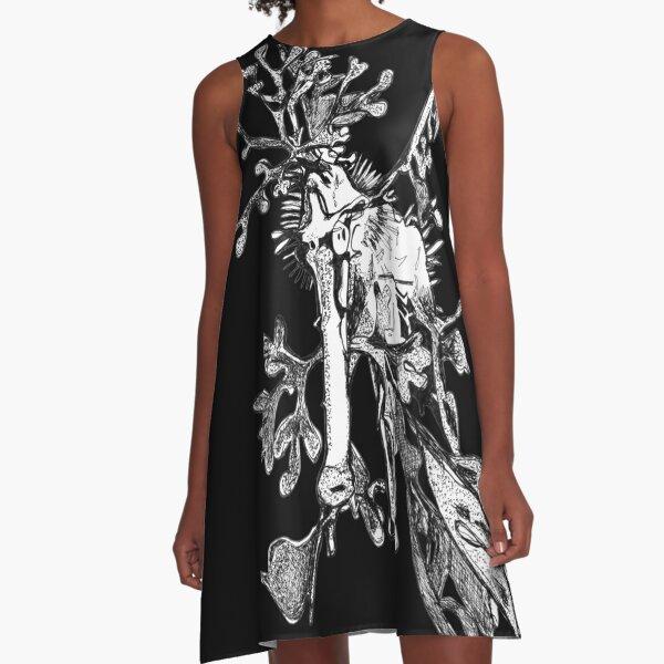 Carl the Leafy Sea Dragon A-Line Dress