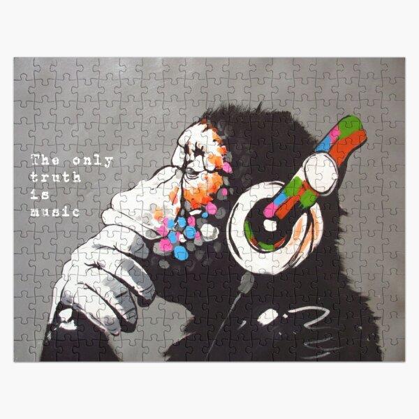 La seule vérité est la musique - Citation d'art et de musique de Banksy Puzzle