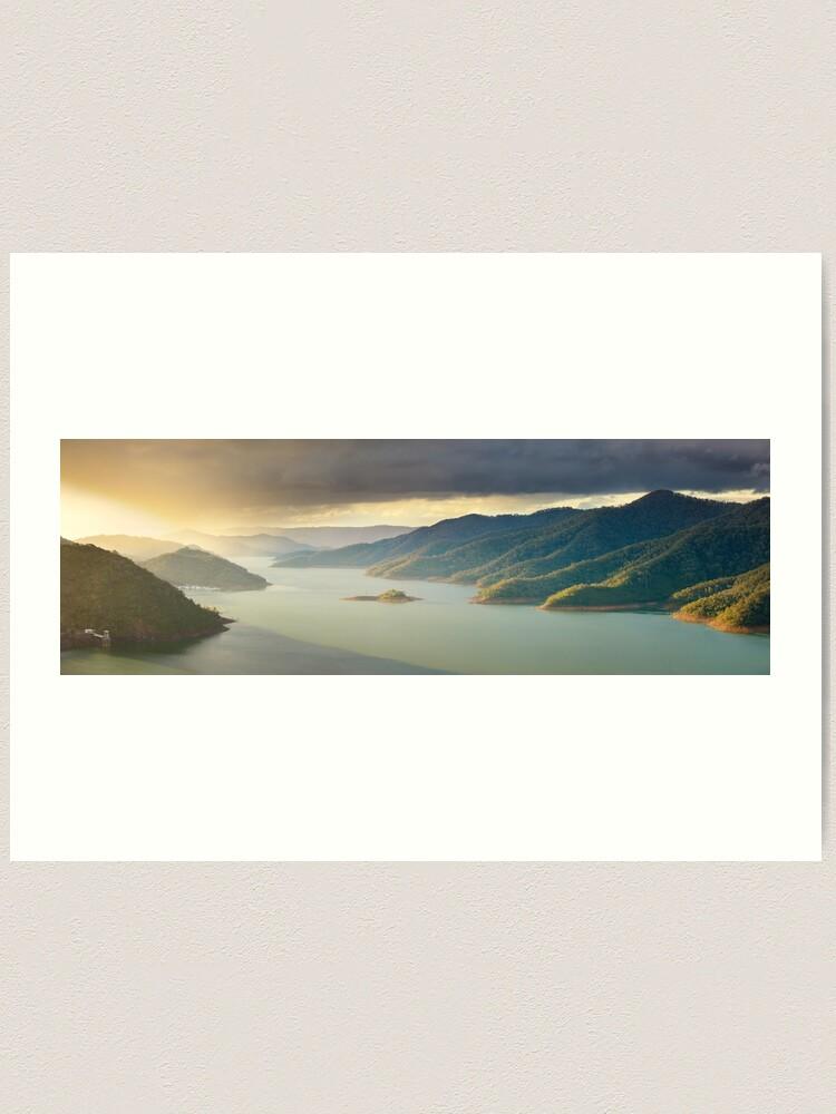 Alternate view of Lake Eildon, Victoria, Australia Art Print