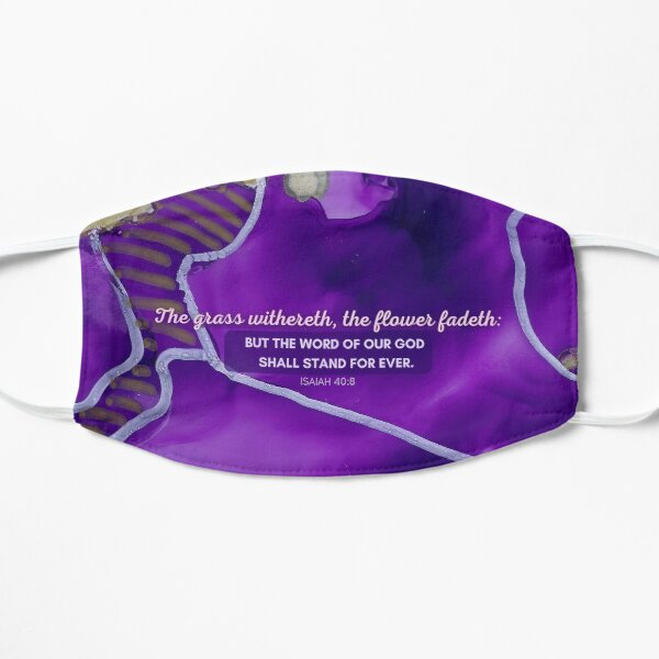 Isaiah 40:8 Flower Scripture Style Mask