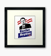 Bartlet/Hoynes '98 - West Wing Campaign T-Shirt Framed Print