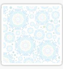 Light blue mandala pattern Sticker