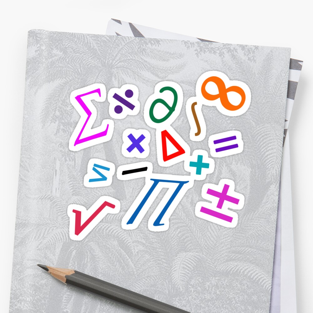 "random math"" word art"" stickers by billowenart 