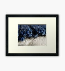 BLUE WOOL - KNIT STITCHES Framed Print