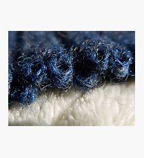 BLUE WOOL - KNIT STITCHES Photographic Print