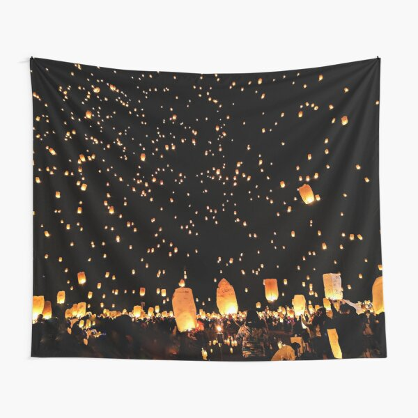 Lanterns Life Celebration Tapestry