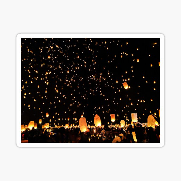 Lanterns Life Celebration Sticker
