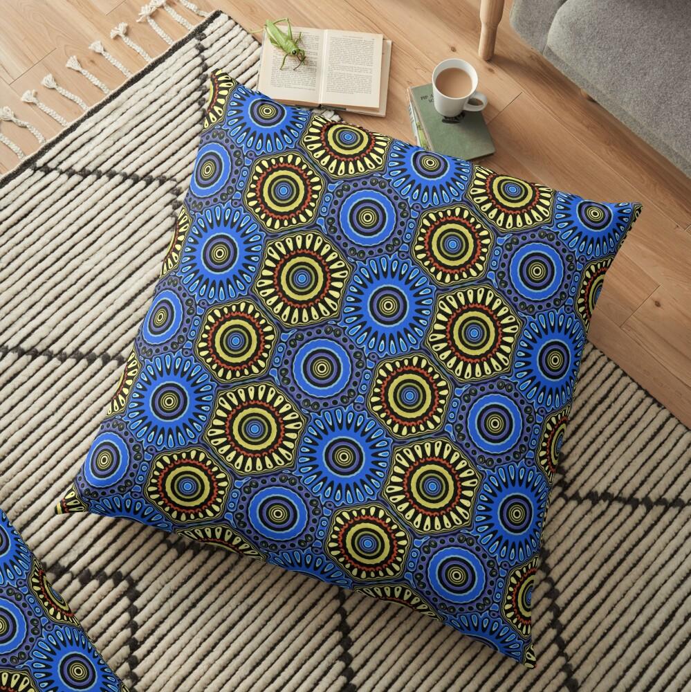 Modern Abstract Pattern Design 499 Floor Pillow