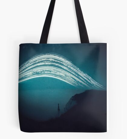 3 month exposure at Beachy head lighthouse UK Tote Bag